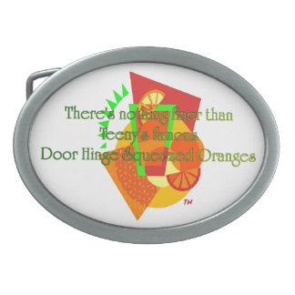 Door Hinge Squeezed Oranges Belt Buckle