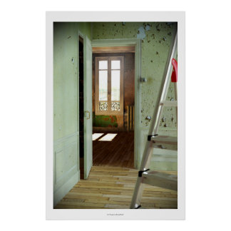 DOOR Homage to Duchamp - Digital Realism Poster