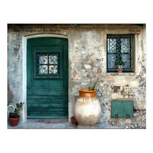 Door in Cagnes sur Mer, France, ... Post Card