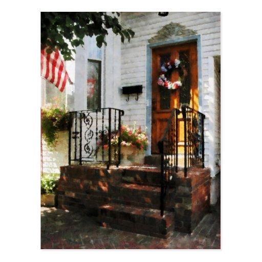 Door in Dappled Sunshine Postcard