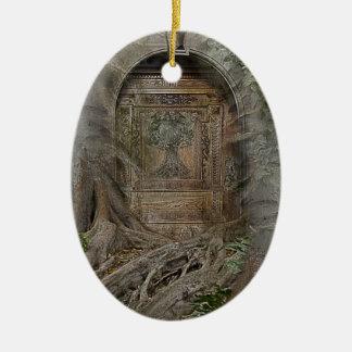 Door into the Realm Ceramic Ornament