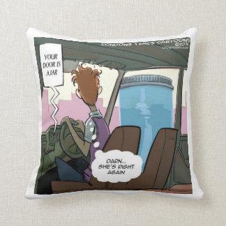 Door Is Ajar Funny 100% Cotton Throw Pillow