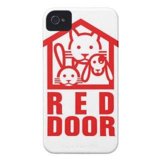 door.jpg rojo iPhone 4 funda