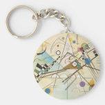Door Kandinsky keys Basic Round Button Keychain