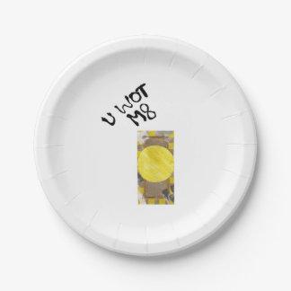 Door Knob Paper Plate