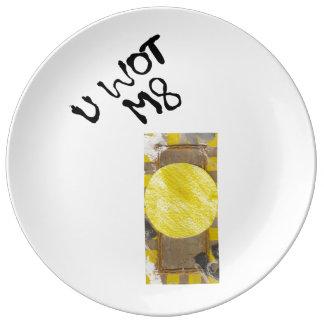 Door Knob Porcelain Plate