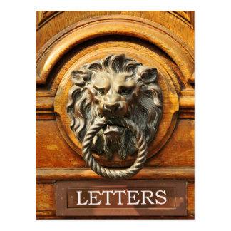 Door knob postcard