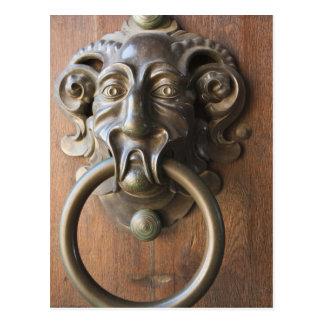 Door knocker at the Neue Residenz Postcard
