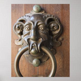 Door knocker at the Neue Residenz Poster