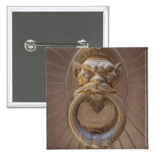 Door knocker in Siena, Italy. 2 Inch Square Button