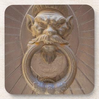 Door knocker in Siena, Italy. Drink Coaster