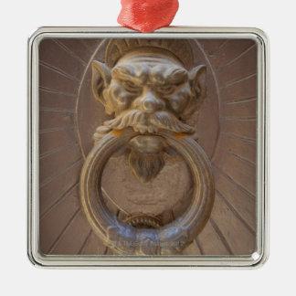 Door knocker in Siena, Italy. Metal Ornament