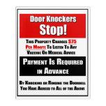 Door Knockers Stop Acrylic Print