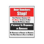Door Knockers Stop Metal Print