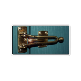 Door Latch Security Personalized Address Labels