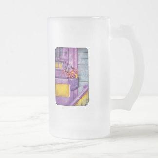Door - Lavender Frosted Glass Beer Mug