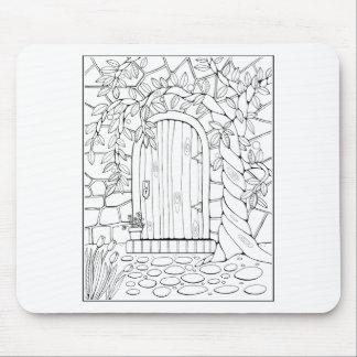 Door Line Art Design Mouse Pad