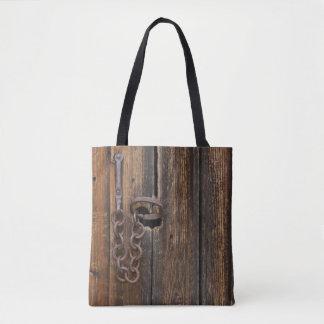 Door lock tote bag