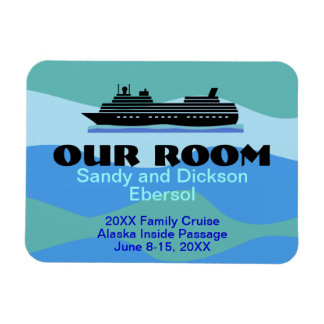 Door Magnet Cruise Ship Room ID and Memento Custom