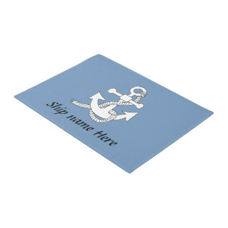 Door Mat - Anchor with Ship Name Doormat