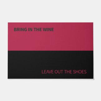 Door Mat for Wine Lovers and Shoe Haters