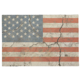 Door Mat print with vintage flag of USA