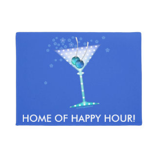 DOOR MATS - BLUE MARTINI DOORMAT