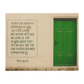 Door Of Happiness Wood Wall Art