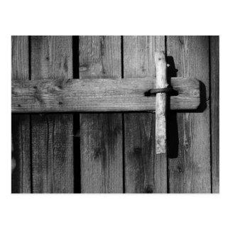 Door of old barn 3 postcard