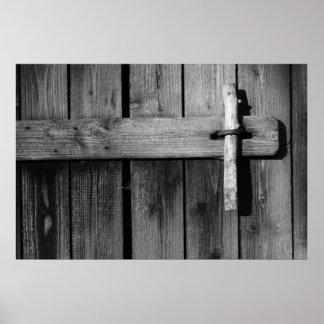 Door of old barn 3 poster