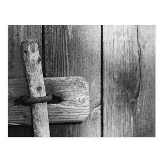Door of old barn 4 postcard