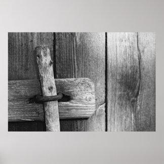 Door of old barn 4 poster