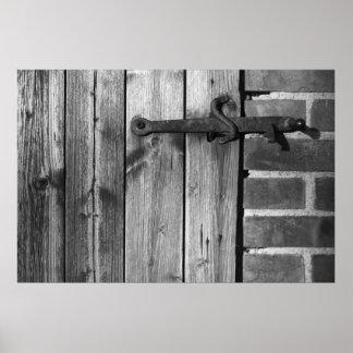 Door of old barn 5 poster