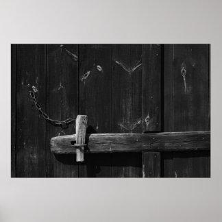 Door of old barn 7 poster