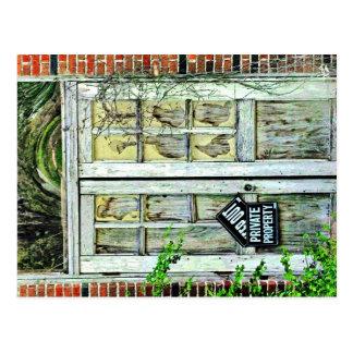 Door on Old School Bldg, Lytton Springs, TX Postcard