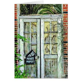 Door on Old School Building, Lytton Springs, TX Card