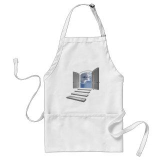 Door opened on a mystic eye adult apron