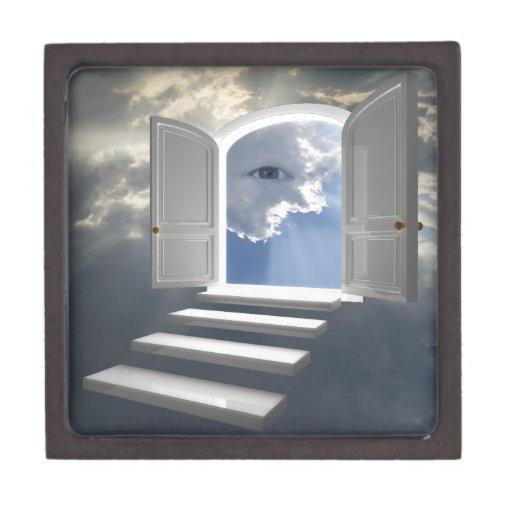 Door opened on a mystic eye premium jewelry box
