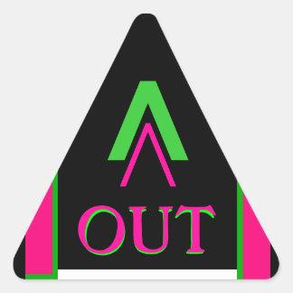 Door OUT Sticker Visual Adaptive Living Mnemonics