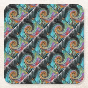 Beach Themed door paper cups square paper coaster