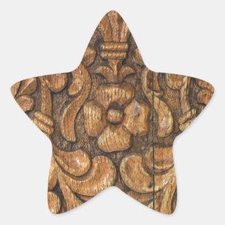 door patern star sticker