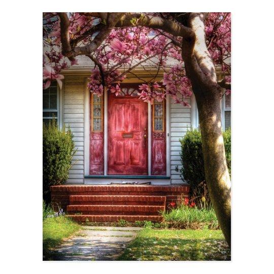 Door - Pink Postcard