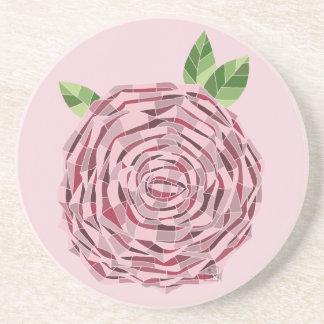 Door Sandstone Cup Rosa Vitral Coaster