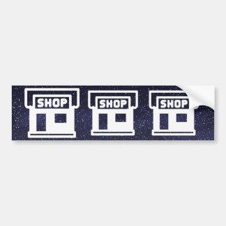 Door Shops Pictograph Car Bumper Sticker