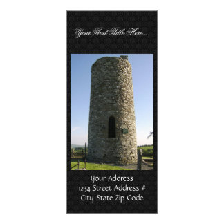 Door Side Of Part Of Irish Round Tower At Old Kilc Rack Card Template