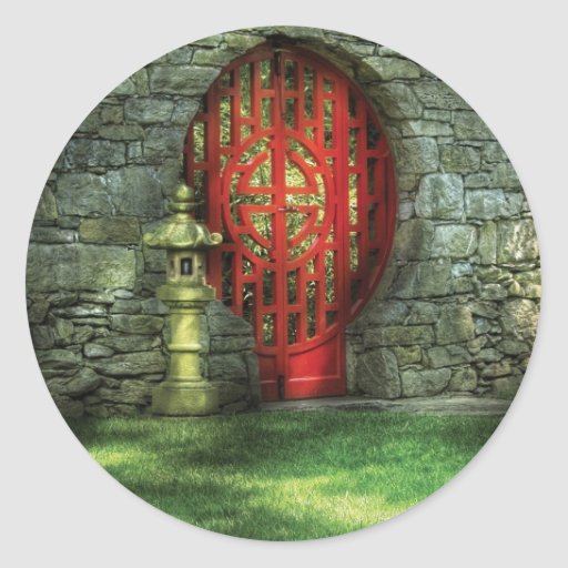Door - The Moon gate Classic Round Sticker