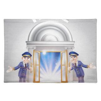 Door to Fame and Doormen Place Mat
