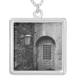 Door to Newgate Prison Silver Plated Necklace