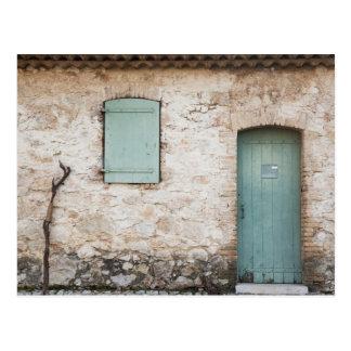 Door, Window, Walking Stick Postcard