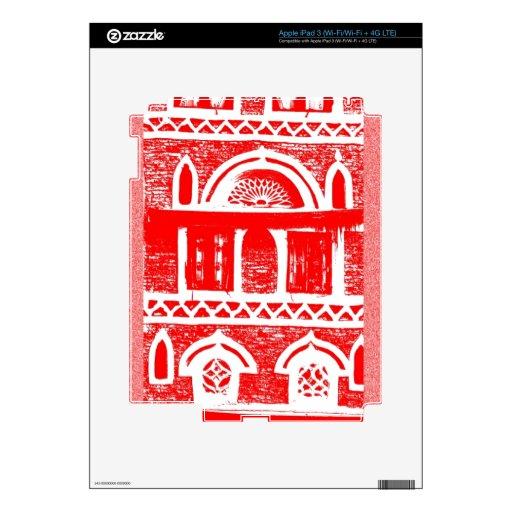Door & windows in red skins for iPad 3